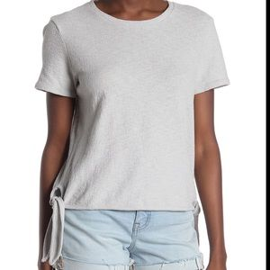 Madewell Modern Side Tie Top Cotton Tee